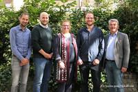 Michael Cahnbley, Christian Dröttboom, Claudia Stoll, Frank Meyers und Lutz Urbach (v.l.n.r.). © komba gewerkschaft nrw