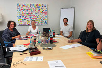 v.l.n.r.: Sandra van Heemskerk, Ute Simon, Simon Walker, Jasmin Jestel (Foto: © komba gewerkschaft nrw)